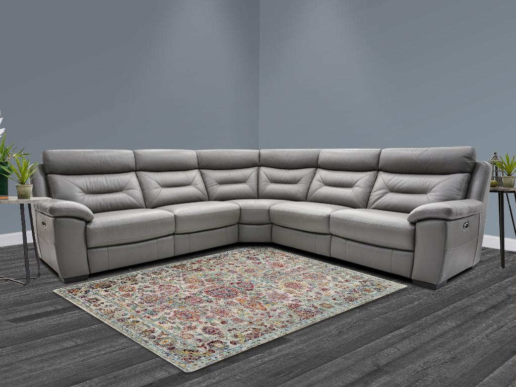 Htl Zita Leather Corner Sofa