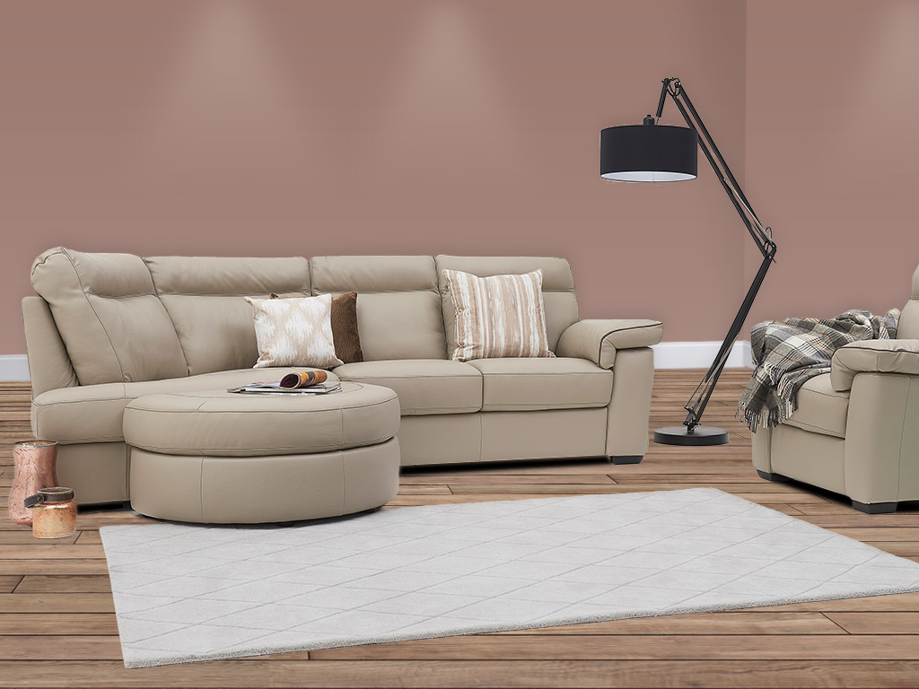 Natuzzi Liverno Leather Sofa
