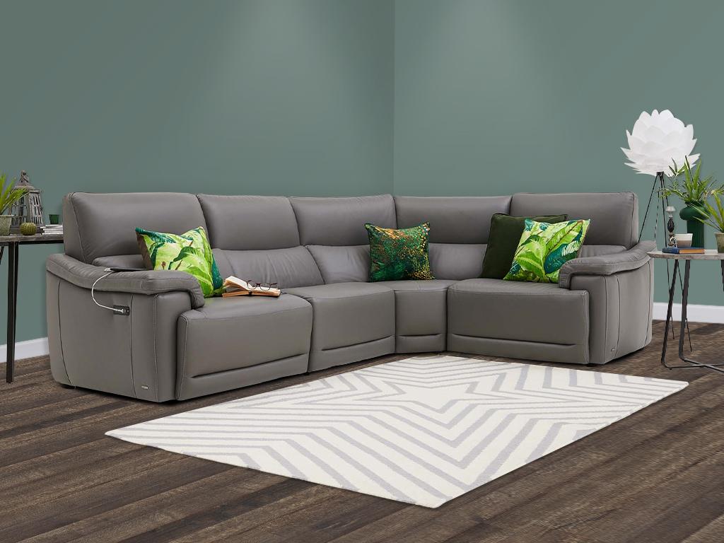 Natuzzi Leather Corner Sofa