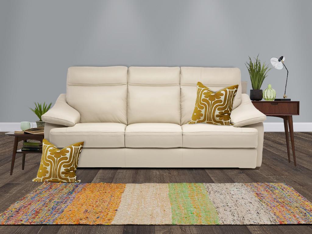 Natuzzi Leon Leather Sofa